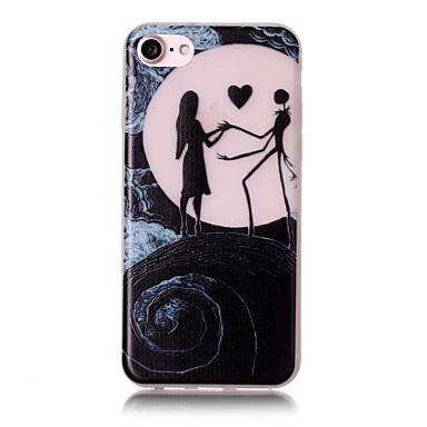 Kılıf Na Apple iPhone 6 iPhone 7 Plus iPhone 7 Świecące w ciemności Wzór Czarne etui Seksowna dziewczyna Miękkie TPU na iPhone 7 Plus