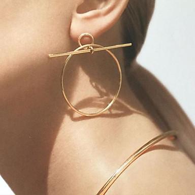 남성용 여성용 링 귀걸이 매달려 귀걸이 패션 합금 라운드 Circle Shape 보석류 결혼식 파티 일상 캐쥬얼