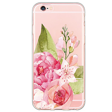 Mert iPhone 6 tok / iPhone 6 Plus tok Ultra-vékeny / Áttetsző Case Hátlap Case Virág Puha TPU AppleiPhone 6s Plus/6 Plus / iPhone 6s/6 /