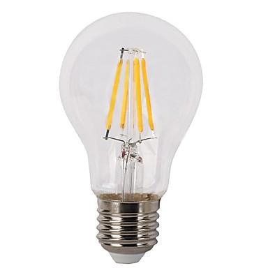 KWB 1szt 4W 380lm E26 / E27 Żarówka dekoracyjna LED A60(A19) 4 Koraliki LED COB Przysłonięcia Ciepła biel
