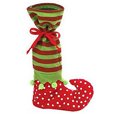 사랑스러운 산타 클로스 요정 신발 부팅 멜빵 크리스마스 장식을위한 사탕 선물 가방을 바지