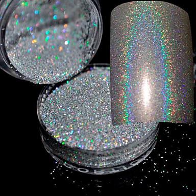 1 pcs Púder Glitters / Klasszikus / Glitter & Sparkle Napi