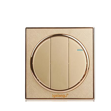 arany kerek fali háztartási kapcsoló aljzat panel