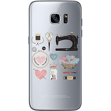 Mert Samsung Galaxy S7 Edge Minta Case Hátlap Case Csipke dizájn Puha TPU Samsung S7 edge / S7 / S6 edge plus / S6 edge / S6