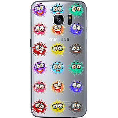 Mert Samsung Galaxy S7 Edge Minta Case Hátlap Case Rajzfilmfigura Puha TPU Samsung S7 edge / S7 / S6 edge plus / S6 edge / S6