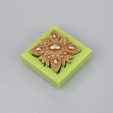 fondant dekorációs penész torta eszközök állnak ékszer szilikon csokoládé penész színe véletlenszerű