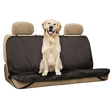Σκύλος Κάλυμμα Καθίσματος Αυτοκινήτου Κατοικίδια Χαλάκια & Μαξιλαράκια Μονόχρωμο Αδιάβροχη Πτυσσόμενο Μαύρο Για κατοικίδια