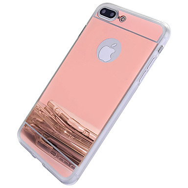 voordelige iPhone 6 Plus hoesjes-hoesje Voor Apple iPhone 7 Plus / iPhone 7 / iPhone 6s Plus Spiegel Achterkant Effen / Andere Hard PC