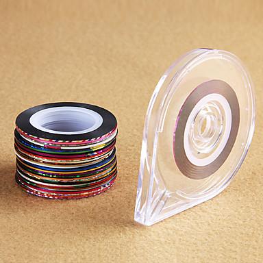 1pcs Köröm ékszer / 3D-s körömáblák Köröm pecsételő sablon Napi Glitters / Divat