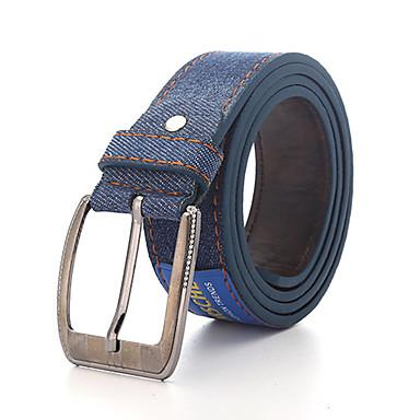 economico Abbigliamento uomo-Per uomo Da ufficio Per il girovita Tinta unita / Jeans