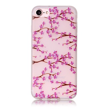 Mert iPhone 7 tok / iPhone 7 Plus tok / iPhone 6 tok Foszforeszkáló / Minta Case Hátlap Case Virág Puha TPU AppleiPhone 7 Plus / iPhone 7