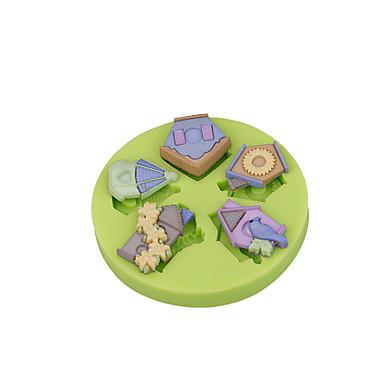 실리콘 금형 birdhouse 금형 퐁당 케이크 장식 폴리머 클레이 fimo sugarcraft 도구 초콜릿 컵케잌은 색상 무작위