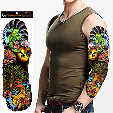 Tetkó matricák Mások Non Toxic Nagy méret Waterproof Női Férfi Felnőtt Tini flash-Tattoo ideiglenes tetoválás