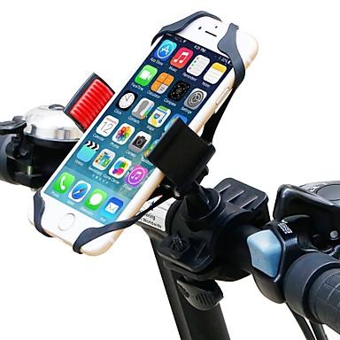 Telefon tartó Állítható, GPS, 360 fokos forgás Kerékpározás / Kerékpár Műanyag Fekete / Piros - 1 pcs