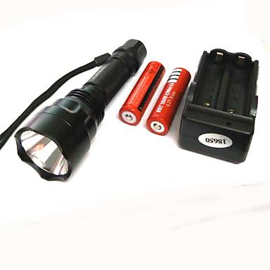 Világítás LED zseblámpák LED 500 Lumen 4.0 Mód Cree XP-E R2 18650 Szuper könnyű Kempingezés/Túrázás/Barlangászat Alumínium ötvözet