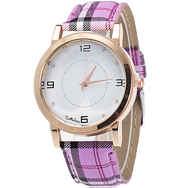 Women's Fashion Cool Quartz Casual Watch Simple Multi-colored Leather Belt Round Alloy Dial Watch Unique Watch Strap Watch