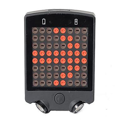 Kerékpár világítás LED LED Kerékpározás Távirányító Újratölthető Sürgősségi Kompakt méret Lítium akkumulátor 50~100 Lumen USB