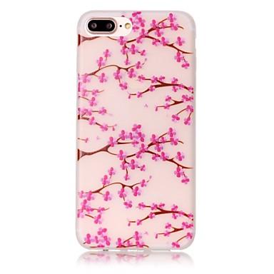 용 아이폰7케이스 / 아이폰7플러스 케이스 / 아이폰6케이스 야광 / 패턴 케이스 뒷면 커버 케이스 꽃장식 소프트 TPU Apple아이폰 7 플러스 / 아이폰 (7) / iPhone 6s Plus/6 Plus / iPhone 6s/6 /