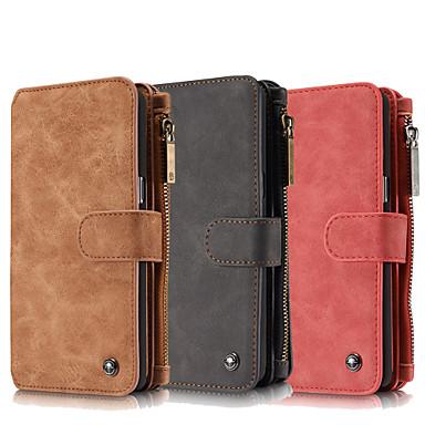 Para Samsung Galaxy Note7 Porta-Cartão / Carteira / Com Suporte / Flip Capinha Corpo Inteiro Capinha Cor Única Couro Legitimo SamsungNote