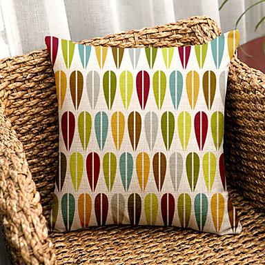 2 개 면/린넨 소파 쿠션 바디 베개 베개 커버, 체크무늬 모던/콘템포라리