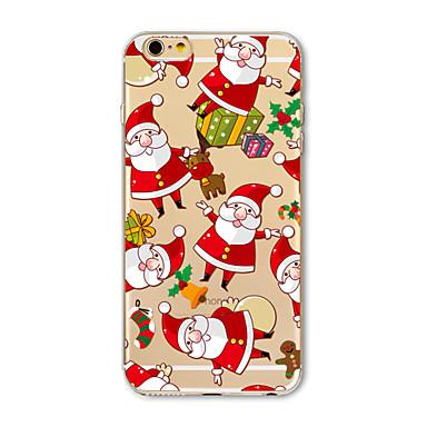 Kılıf Na Apple iPhone X iPhone 8 Plus Etui iPhone 5 iPhone 6 iPhone 7 Półprzezroczyste Wzór Czarne etui Święta Bożego Narodzenia Miękkie