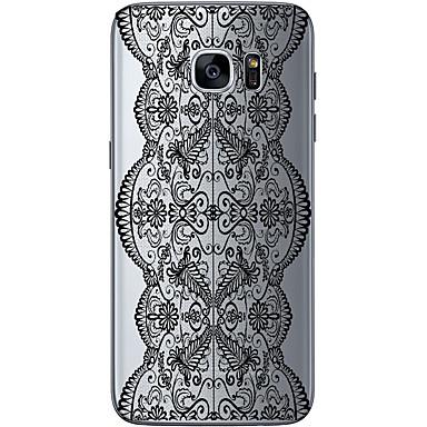Mert Samsung Galaxy S7 Edge Minta Case Hátlap Case Mértani formák Puha TPU Samsung S7 edge / S7 / S6 edge plus / S6 edge / S6