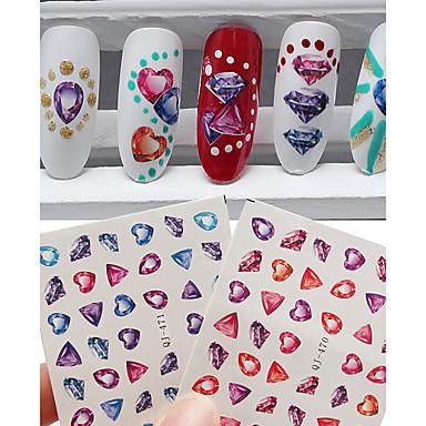 2pcs Nail Art matrica 3D-s körömmatricák smink Kozmetika Nail Art Design