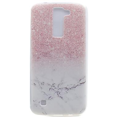 Pentru Transparent Model Maska Carcasă Spate Maska Marmură Moale TPU pentru LG LG K10 LG K8 LG K7 LG Nexus 5X LG X Power