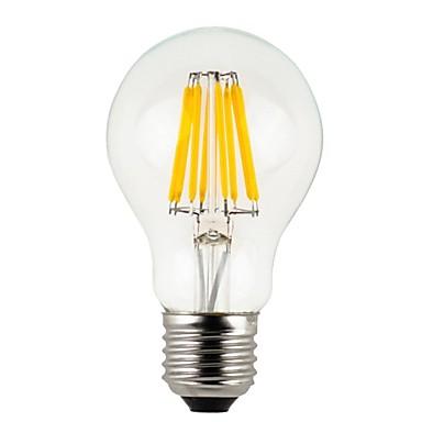 8W E26/E27 LED 글로브 전구 A60(A19) 8 COB 780 lm 따뜻한 화이트 밝기 조절 / 방수 V 1개