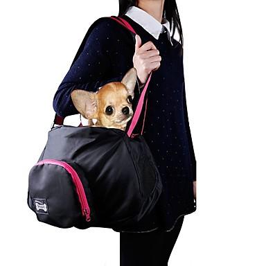 Cica Kutya Hordozók és hátizsákok utazáshoz Válltáska Házi kedvencek Hordozók Hordozható Egyszínű Fekete Szürke