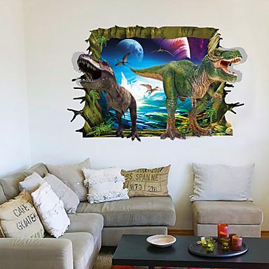 경치 동물 3D 벽 스티커 플레인 월스티커 3D 월 스티커 데코레이티브 월 스티커, PVC 홈 장식 벽 데칼 벽