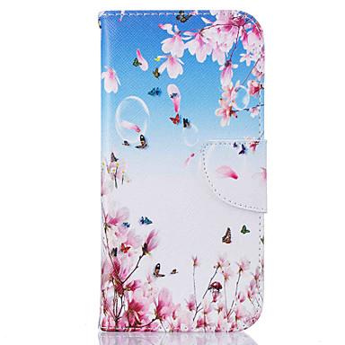케이스 제품 Samsung Galaxy S7 edge S7 카드 홀더 지갑 스탠드 패턴 풀 바디 버터플라이 하드 인조 가죽 용 S7 edge S7 S6 edge S6 S5