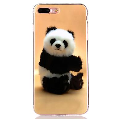 용 IMD / 반투명 / 패턴 케이스 뒷면 커버 케이스 동물 소프트 TPU Apple 아이폰 7 플러스 / 아이폰 (7) / iPhone 6s Plus/6 Plus / iPhone 6s/6