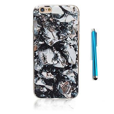 Case Kompatibilitás Apple iPhone 5 tok iPhone 6 iPhone 7 Minta Fekete tok Márvány Puha TPU mert iPhone 7 Plus iPhone 7 iPhone 6s Plus