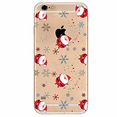 Case Kompatibilitás Apple iPhone X iPhone 8 Plus iPhone 7 iPhone 6 iPhone 5 tok Ultra-vékeny Minta Hátlap Karácsony Puha TPU mert iPhone
