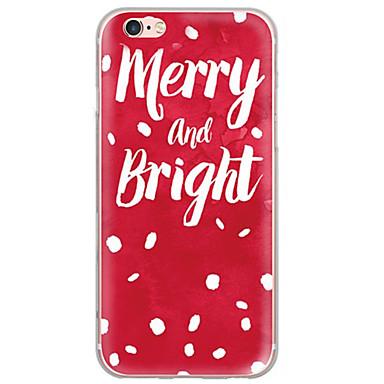 용 울트라 씬 / 반투명 케이스 뒷면 커버 케이스 크리스마스 소프트 TPU Apple 아이폰 7 플러스 / 아이폰 (7) / iPhone 6s Plus/6 Plus / iPhone 6s/6 / iPhone SE/5s/5