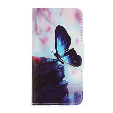Case Kompatibilitás Samsung Galaxy A5(2016) A3(2016) Pénztárca Kártyatartó Állvánnyal Minta Teljes védelem Pillangó Kemény Műbőr Bőr mert