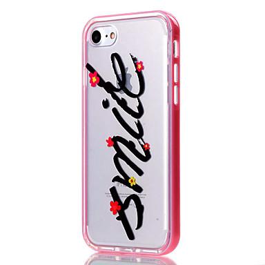Mert iPhone 7 tok / iPhone 6 tok / iPhone 5 tok Átlátszó / Minta Case Hátlap Case Szó / bölcselet Puha TPU AppleiPhone 7 Plus / iPhone 7