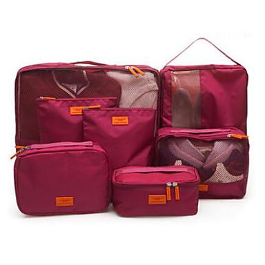 billige Reisevesker-Reise Reiseveske Pakkeorganiserer Skoveske Reiseoppbevaring Vanntett Støvtett Sammenleggbar Stoff Oxford tekstil