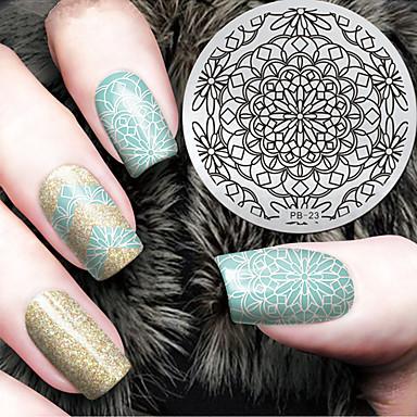 1 pcs tłoczenie Plate Szablon Elegancki / Modny Nail Art Design Modny design Codzienny