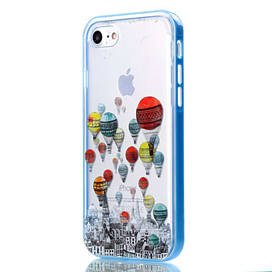 voordelige iPhone 5 hoesjes-hoesje Voor Apple iPhone 8 Plus / iPhone 8 / iPhone 7 Plus Transparant / Patroon Achterkant Cartoon / Balloon Zacht TPU