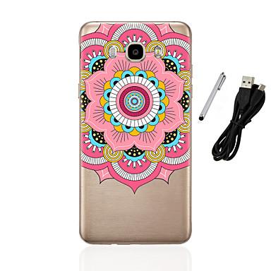 Case For Samsung Galaxy J5(2016) J3(2016) Translucent Pattern Back Cover Mandala Soft TPU for J5 (2016) J5 J3 (2016) J3 J1 (2016) J1