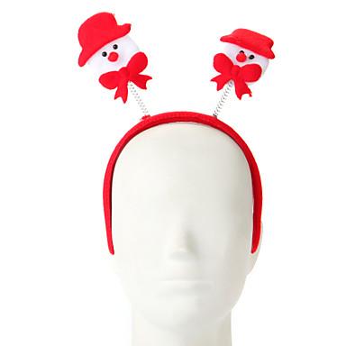 1 szt. Gąbka bałwanek do włosów ozdoba świąteczna
