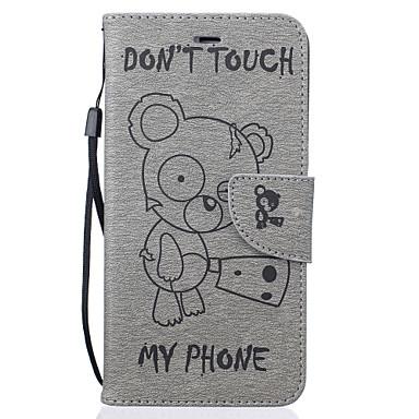 Capinha Para Apple Capinha iPhone 5 iPhone 6 iPhone 7 Porta-Cartão Carteira Com Suporte Estampada Com Relevo Capa Proteção Completa