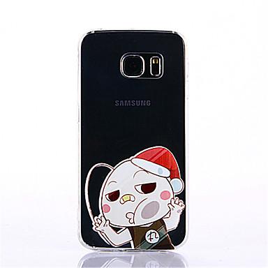 Case Kompatibilitás Samsung Galaxy S7 edge S7 Minta Hátlap Rajzfilm Puha TPU mert S7 edge S7 S6 edge plus S6 edge S6