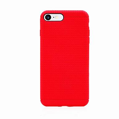 케이스 제품 iPhone 7 Plus iPhone 7 Apple iPhone 7 Plus iPhone 7 충격방지 뒷면 커버 한 색상 소프트 TPU 용 iPhone 7 Plus iPhone 7