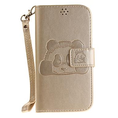 Mert Pénztárca / Kártyatartó Case Teljes védelem Case 3D rajz Kemény Műbőr LG LG K10 / LG K8 / LG K7 / LG G4 / LG G3