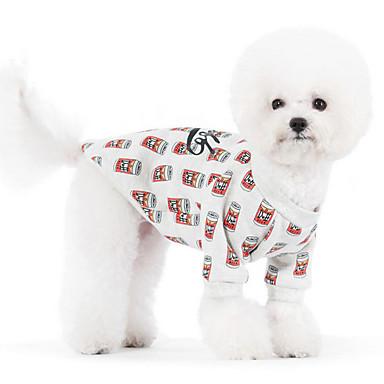 개 후드 옐로우 강아지 의류 겨울 / 모든계절/가을 꽃장식 귀여운 / 따뜻함 유지 /