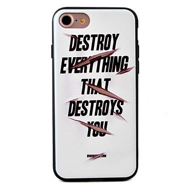 용 엠보싱 텍스쳐 / 패턴 케이스 뒷면 커버 케이스 단어 / 문구 하드 아크릴 Apple 아이폰 7 플러스 / 아이폰 (7) / iPhone 6s Plus/6 Plus / iPhone 6s/6