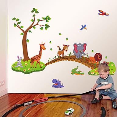 동물 패션 만화 벽 스티커 플레인 월스티커 데코레이티브 월 스티커 홈 장식 벽 데칼 벽